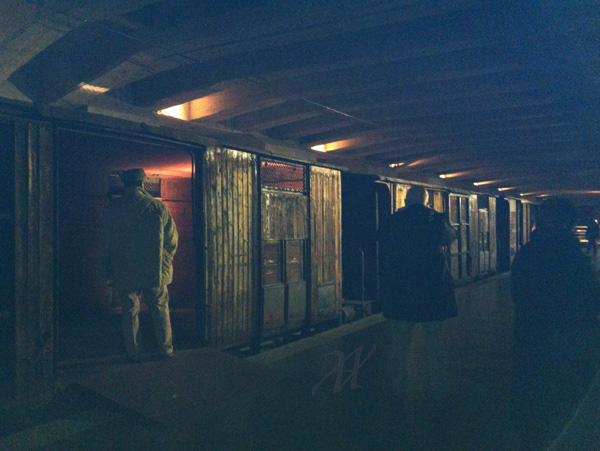 (NON IN USO) Cattle cars in the Shoah Memorial
