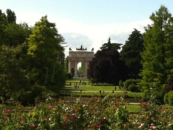 the Arch of Peace and Parco Sempione