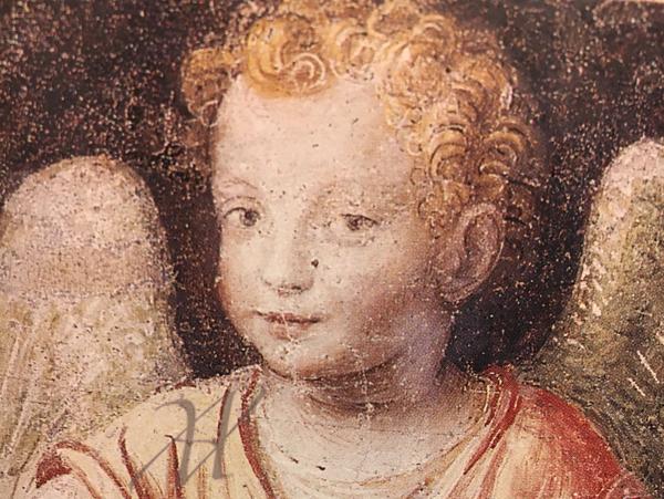 San Maurizio Church delicate portraits